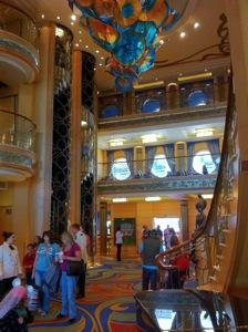 Disney Wonder lobby