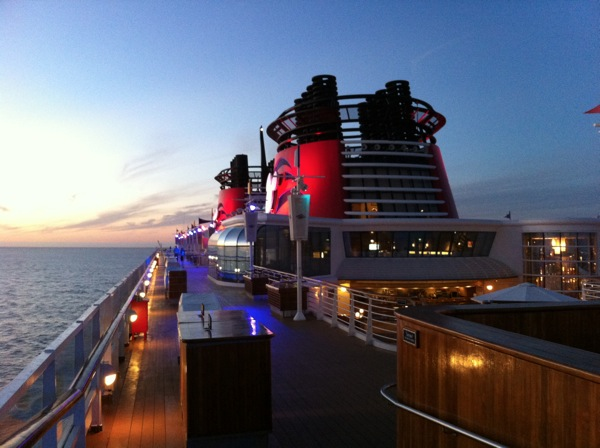 The top deck of the Disney Wonder