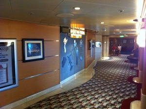 The Buena Vista theater on the Disney Wonder