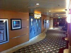 The Buena Vista theater on the Disney Wonder
