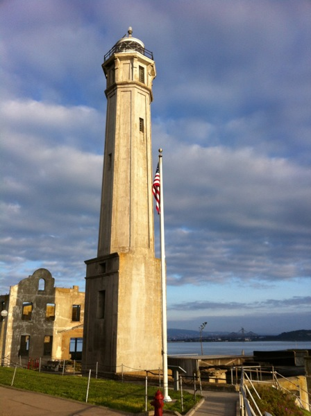The lighthouse on Alcatraz