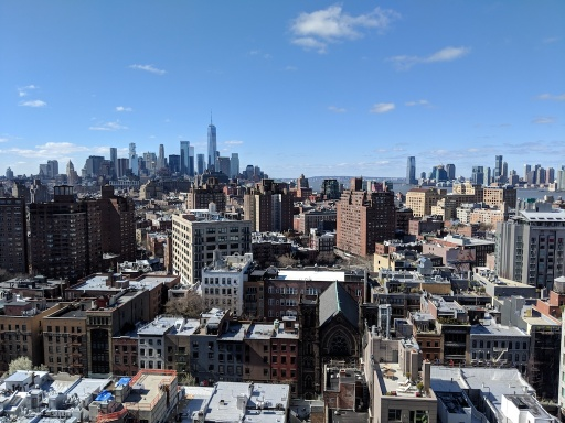 View from the 14th floor of Google NYC