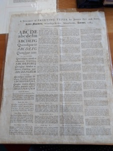Print specimen page